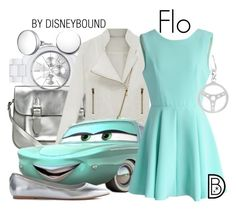 """""""Flo"""" by leslieakay ❤ liked on Polyvore featuring MICHAEL Michael Kors, kiz&Co., Kin by John Lewis, Chicwish, GUESS, disney, disneybound and disneycharacter"""