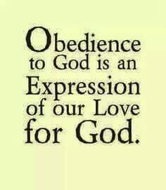 OBEDIENT IS BETTER THAN SACRIFICE!!!