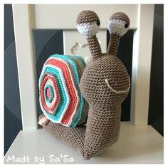 ❤️ Made by Sa'Sa - Slak Sjaak, patroon van Stip en Haak