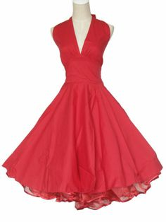Vintage Dancing Party Ball Prom Swing Jive Rockabilly Dresses Skirt 50s 60s Red | eBay