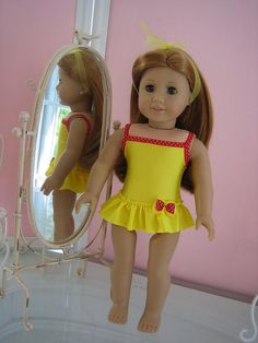 Skirted Swimsuit made to fit 18 inch American Girl by MenaBella