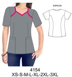 Delantales Corporate Uniforms, Medical Uniforms, Nursing Dress, Scrubs, Tunic Tops, Plus Size, Lady, Sleeves, How To Wear