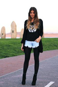 Meia calça com shorts