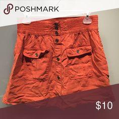 ⚡️Orange Khaki Skirt⚡️ burnt orange khaki material with pockets. good quality still, just wrinkled life in progress Skirts Mini