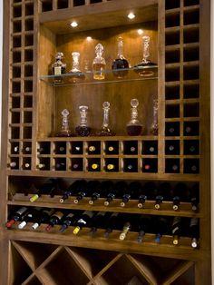 Built in wine/bar storage. requirement.