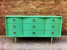 Seeking mid-century dresser for changing table. I think this baby's going to be modern. Spearminty!