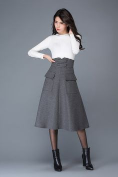 Hey, I found this really awesome Etsy listing at https://www.etsy.com/listing/486274351/wool-skirt-winter-skirt-dark-grey-skirt