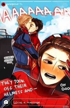 Read Thorki from the story Imagenes yaoi Marvel & DC by MuSeSipider with reads. Spideypool, Superfamily Avengers, Stony Avengers, Marvel Avengers, Stony Superfamily, Funny Marvel Memes, Marvel Jokes, Marvel Dc Comics, Superhero Family