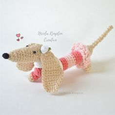 Meet Ellora Grace the dainty dachshund. 💕🌸 She's one of my longest and most intricate creations and I love her! She's sassy and classy and although she loves to play, she always does it with style 🐶💕👛💕 . #nicolakimpton #dogoftheday #dachshund #dog #dogs #handmade #dachshunds #dachshundsofinstagram #ilovemydachshund #petportrait #doxie #nz #bridal #dogsofnewzealand #sausagedog #newzealand #petstagram #weinerdog #elegant #dachshundsunited #dogstagram #dogsofinstagram #nzdogs…