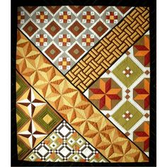 "award-winning ""Yosegi"" quilt by Lesley Brankin ~ love taking traditional blocks & arranging them in a contemporary layout"