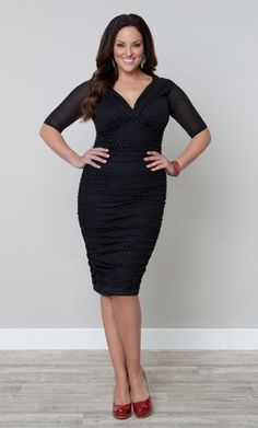 Betsey Rouched Dress by Kiyonna available at Leigh-Ann's – LEIGH-ANN'S