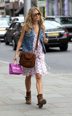 Sienna Miller knows how rock the Jean vest!  For true vintage 80's check out seller I'd 69chevellegirl on eBay!  www.HopeChestResale.com