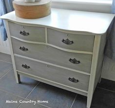 Old White and French Linen Dresser