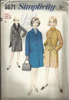 Vintage sewing pattern. Smplicity 6671. by IsellVintagePatterns