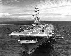USS Valley Forge (CV/CVA/CVS-45, LPH-8), 1945, was one of 24 Essex-class aircraft carriers built during and shortly after World War II for the United States Navy. Saw extensive service in the Korean War and the Vietnam War. She was reclassified in the early 1950s as an attack carrier (CVA), then to an antisubmarine carrier (CVS) and finally as Amphibious Assault Ship (LPH)