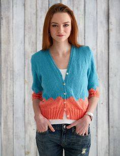 Yarnspirations.com - Caron Walk in the Park Cardi  - Patterns  | Yarnspirations