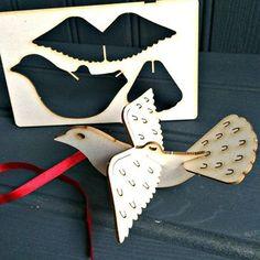 Lasercut 'Pop Out' Christmas Dove Card