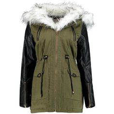 Laila Faux Fur Trim Parka (1.950 CLP) ❤ liked on Polyvore featuring outerwear, coats, jackets, tops, coats & jackets, faux fur trim coat, parka coat and faux fur trim parka