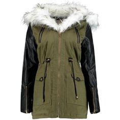 Laila Faux Fur Trim Parka (1.950 CLP) ❤ liked on Polyvore featuring outerwear, coats, jackets, tops, coats & jackets, faux fur trim coat, parka coat and faux fur trim parka
