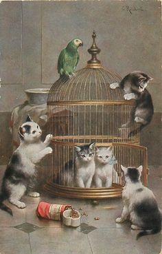Vintage postcard (by C. Reichert) - 1914         I LOVE IT!!!