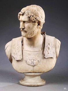 The Roman emperor Hadrian was obsessed with defending the empire, since it was at it's hight. He is the successor of Trajan, who invade Dacia, which was on the Northern side of the Rhine.