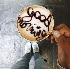 good morning (with chocolate) But First Coffee, I Love Coffee, Coffee Art, Coffee Break, My Coffee, Morning Coffee, Coffee Cups, Espresso Coffee, Nitro Coffee