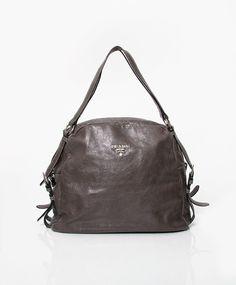Prada Bandoliera Anthracite Saffiano Shoulder Bag