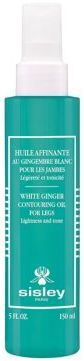 Sisley-Paris White Ginger Contouring Oil for Legs/ 5 fl. oz.  White Ginger Contouring Oil offers a complete solution for women looking for lighter-feeling legs. Combined with a specific massage technique, it offers 4 highly targeted results: 1. Energizing White Ginger extract and Ginkgo Biloba oil extract. 2. Remodeling Gelidium cartilagineum extract and Cedrol. 3. Toning Essential oils of Rosemary and Litsea cubeba, combined with White Ginger extract. 4. Enhancing Shea, Macadamia and…