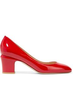 Valentino - Tango Patent-leather Pumps - Red - IT
