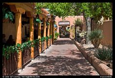 Alley, old town. Albuquerque, New Mexico, USA (color)