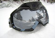 Wifi camera ski goggles from Sharper Image.