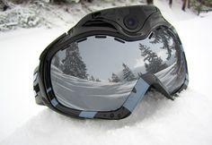 Wifi camera ski goggles from Sharper Image.