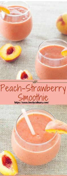 Looking for á quick delicious breákfást to use up your summer peáches? Try this creámy peách-stráwberry smoothie! Its páleo vegán ánd super eás Smoothie Fruit, Smoothie Detox, Apple Smoothies, Smoothie Drinks, Healthy Smoothies, Healthy Drinks, Cleanse Detox, Diet Drinks, Strawberry Peach Smoothie