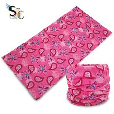 $ 1.2 Pink paisley bandana