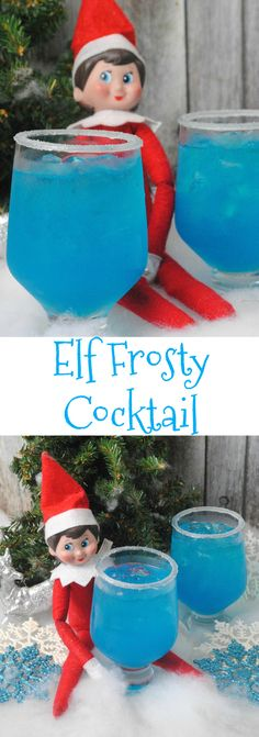 It's Elf on the Shelf time and maybe you might need a little pick me up to get you through the month. So we are sharing anElf Frosty Cocktail Recipe.