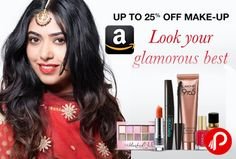Amazon is offering 25% off discount on Make-up and Nails Beauty Products. Including Eye make up, Lip Colour, Face Make up , Nail Paints & many more with popular brands like Lakme, Revlon, Maybelline, L'Oreal Paris, NYX, Colorbar.  http://www.paisebachaoin