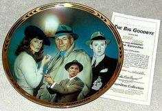 Vintage 1995 Star Trek TNG The Episodes Plate Collection: The Big Goodbye Limited Edition Plate from the Hamilton Collection with COA by #GalleryAntiques