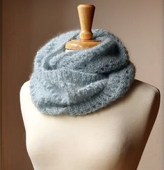 Fall Winter Fashion - Snood KNITTING PATTERN - Long Circular Scarf - Genevieve Cowl - PDF Electronic Delivery. via Etsy.