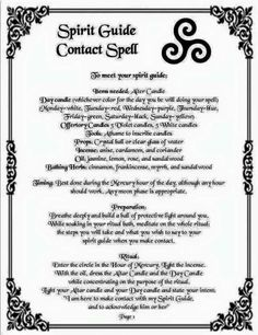 To contact your guide: Remember the First Law of Wicca, especially with this invocation Witch Spell Book, Witchcraft Spell Books, Magick Spells, Wicca Witchcraft, Real Spells, Magick Book, Healing Spells, Money Spells, Candle Spells