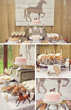 Horse Party Inspiration - Birthday Party Ideas for Kids and Adults Horse Party Inspiration - Birthday Party Ideas & Themes Rodeo Party, Rodeo Birthday Parties, Horse Theme Birthday Party, Girl 2nd Birthday, Cowgirl Birthday, Farm Birthday, Derby Party, Girl Horse Party, Geek Birthday