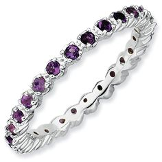 stackable rings with birthstones in it.I want one for each of my daughters and one with my husbands birtstones in it!