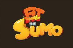 Fit the sumo game logo Bg Design, Game Logo Design, Icon Design, Game Font, Game Ui, 2 Logo, Symbol Logo, Game Props, Cartoon Logo