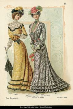 Afternoon gowns, 1901 US, The Delineator