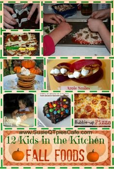 12 Kids in the Kitchen Fall Foods and perfect Halloween Recipes for kids -- we've been doing some of these for years! love them!