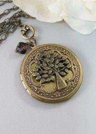 Fig TreeBrass LocketLocketTreeTree by ValleyGirlDesigns on Etsy, $31.00, $31