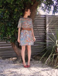 Recycled Fashion: Curtain Dress - Project Upcycled