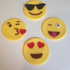 cupcake emoji for iphone 24 x emoji happy smiley faces cupcake cake toppers 6434
