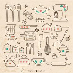 cocina salvo freepik utensilios dibujo lista