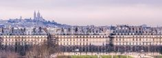 Paris Panorama Photography - Sacre Coeur and Paris Rooftops by Lincoln Photography