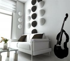 How to decorate your living room with a musical instruments - http://www.amazinginteriordesign.com/how-to-decorate-your-living-room-with-a-musical-instruments/